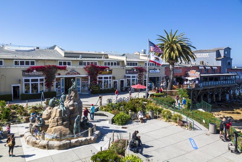Monterey zatoka, półwysep, Monterey, Kalifornia, Stany Zjednoczone Ameryka, Północna Ameryka zdjęcia stock