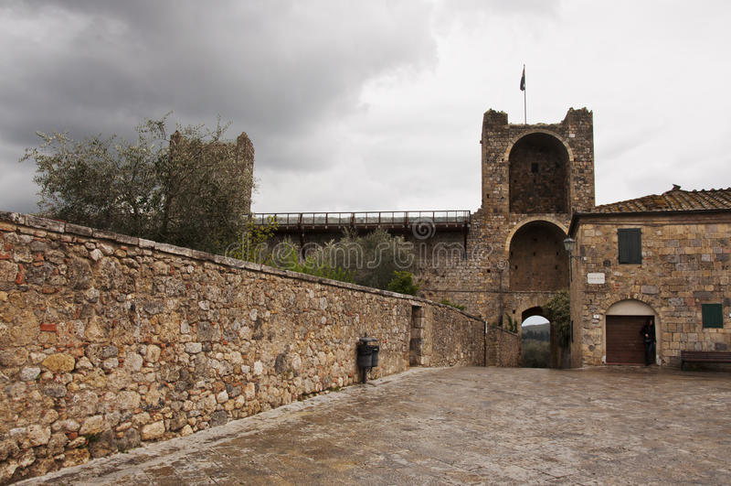Monteriggioni foto de archivo