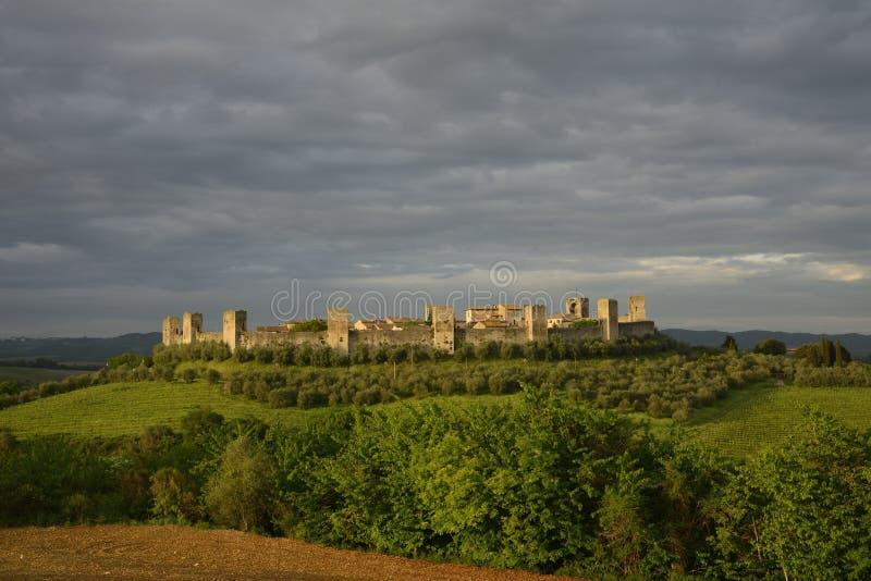 Monteriggioni stock foto
