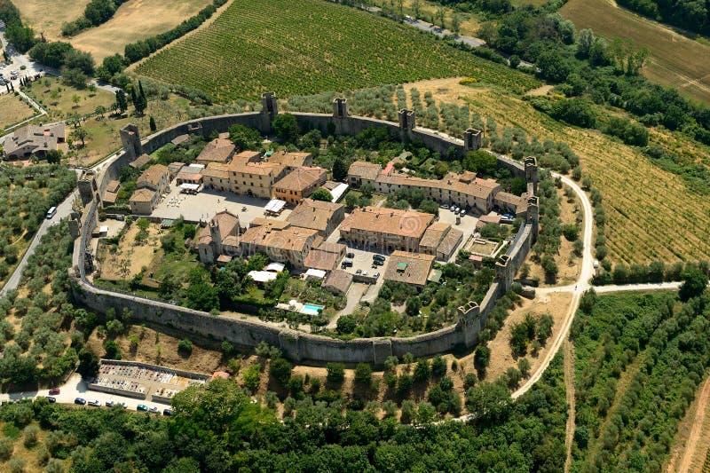Monteriggioni fotografía de archivo libre de regalías