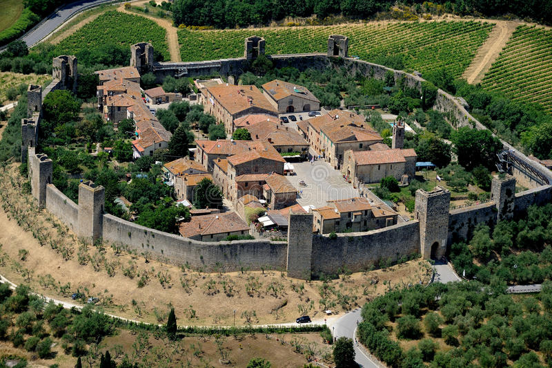 Monteriggioni стоковая фотография