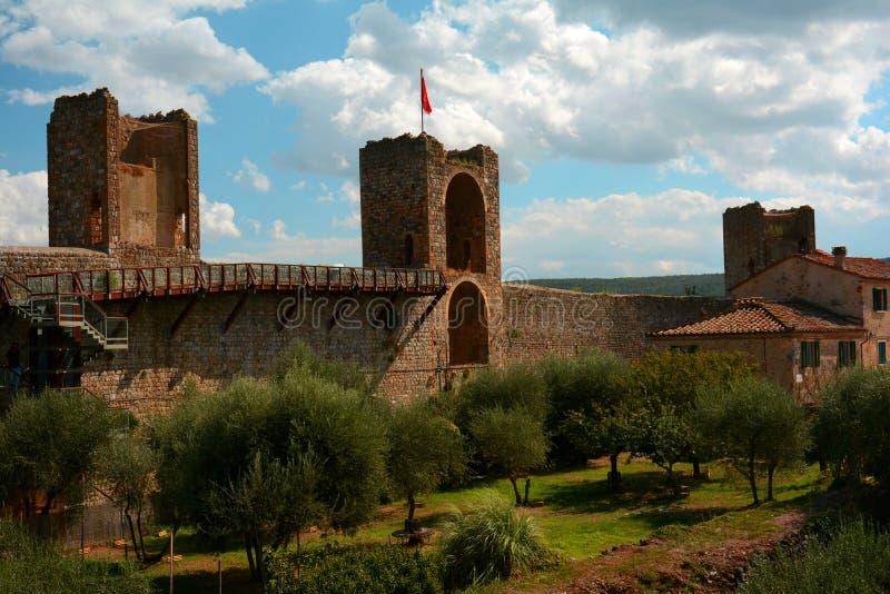 Monteriggioni imagem de stock