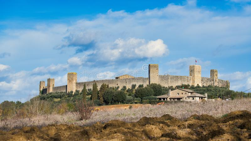 Monteriggioni The Castle. province of Siena Tuscany Italy royalty free stock photo