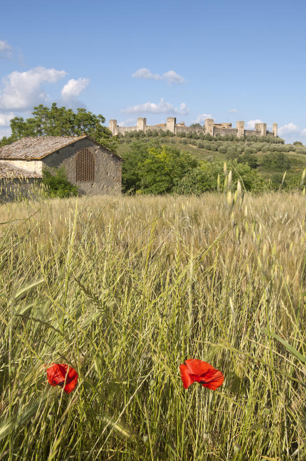Download Monteriggioni Countryside, Tuscany Italy Stock Photo - Image: 25267292