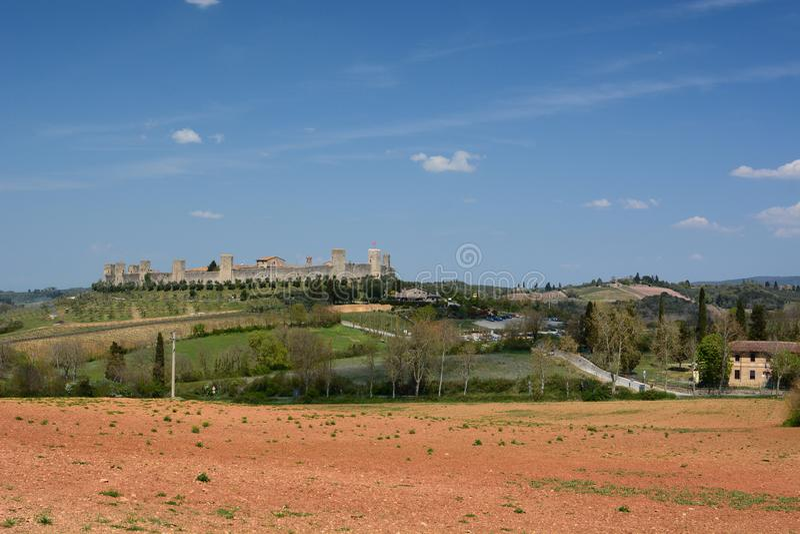 Monteriggioni Toscana r стоковое фото rf