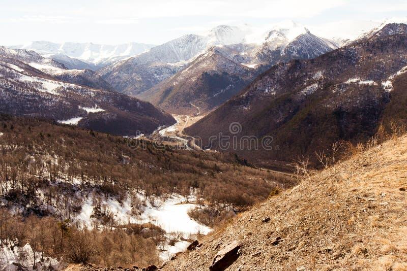 Montering Arkhyz, Ryssland arkivfoton