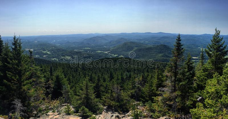 Montering Ascutney Hang Glide View arkivfoton