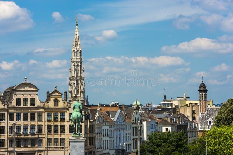 Montering av konsterna i Bryssel, Belgien royaltyfri fotografi