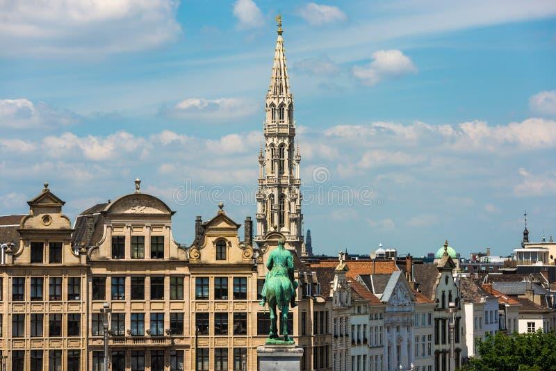 Montering av konsterna i Bryssel, Belgien arkivbilder