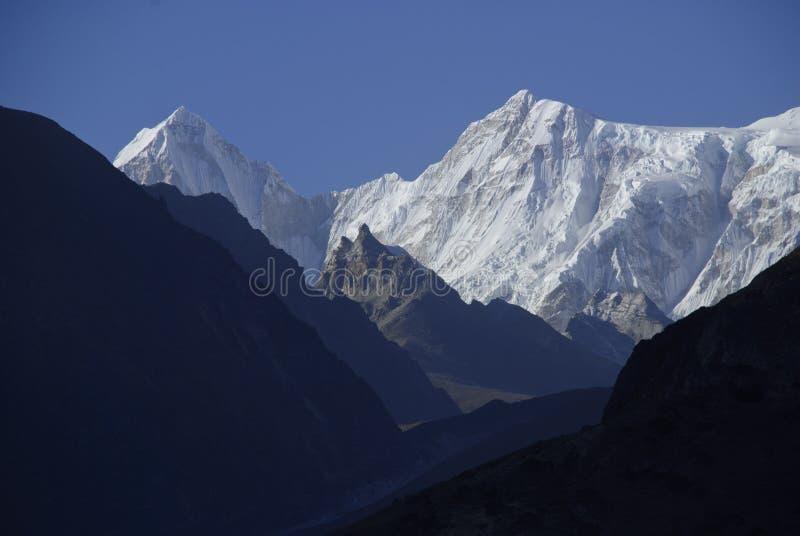 Montering Cho Oyu Nepal arkivbilder