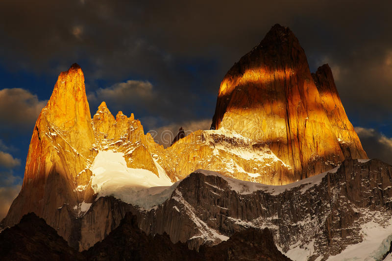Montering Fitz Roy, Patagonia, Argentina arkivbilder
