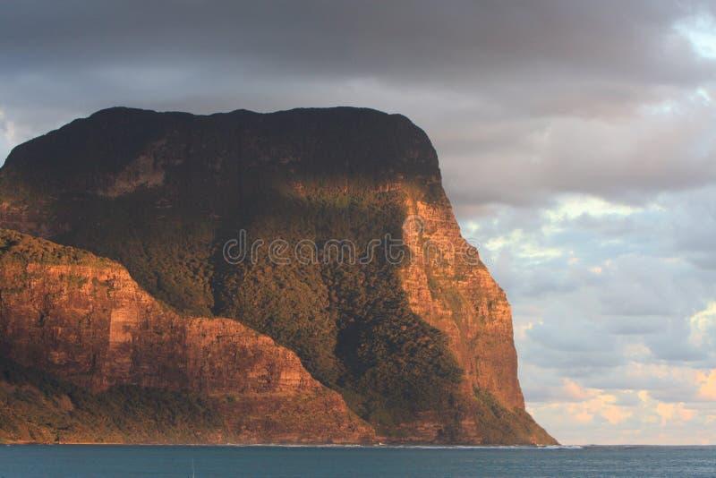 Montering Gower på Lord Howe Island arkivbild