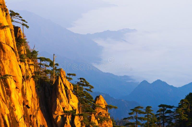 Montering huangshan royaltyfria foton