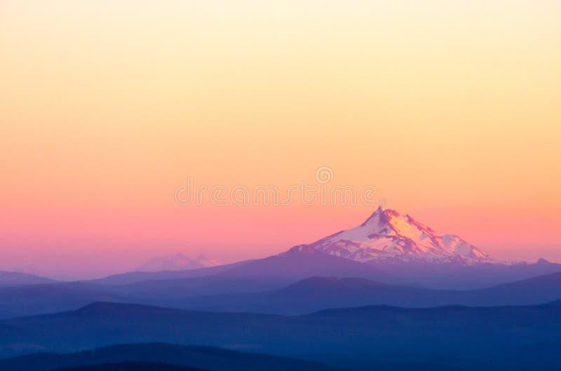 Montering Jefferson Sunset royaltyfria bilder