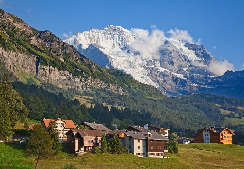 Montering Jungfrau arkivbild