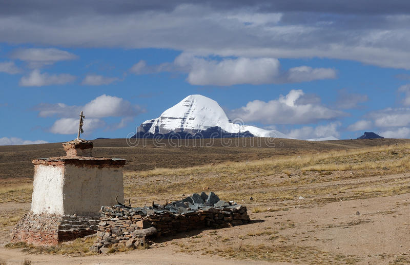 Montering Kailash Tibet 1 royaltyfri foto