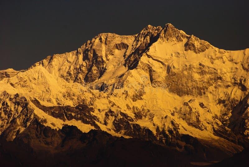 Montering Kanchenjunga royaltyfri foto