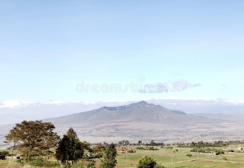 Montering Longonot i Greatet Rift Valley av Kenya fotografering för bildbyråer