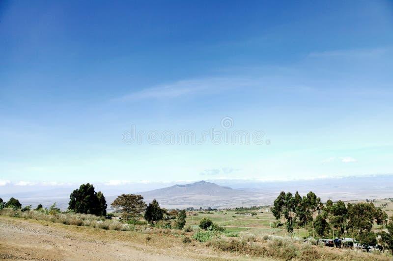 Montering Longonot i Greatet Rift Valley av Kenya royaltyfri fotografi