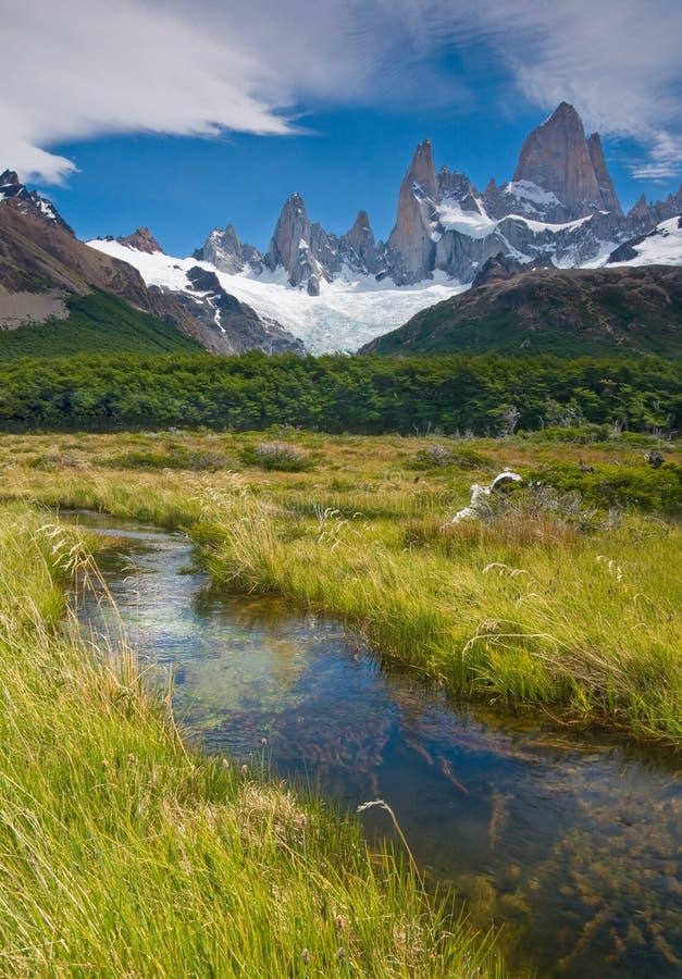 montering np roy för los för argentina fitzglaciares arkivbilder