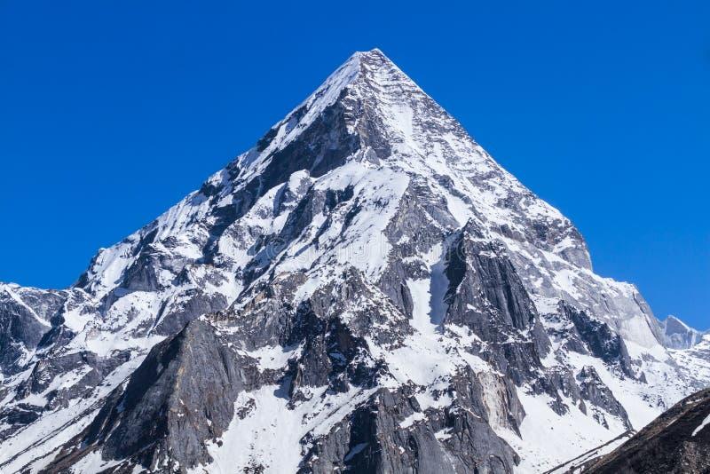 Montering Sudarshan - indiska Himalayas arkivbild