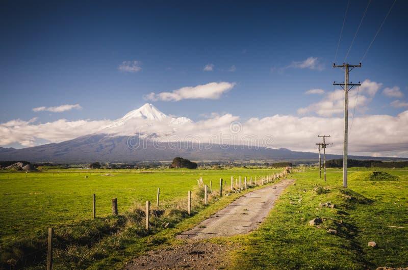 Montering Taranaki, Fujien av Nya Zeeland arkivfoto