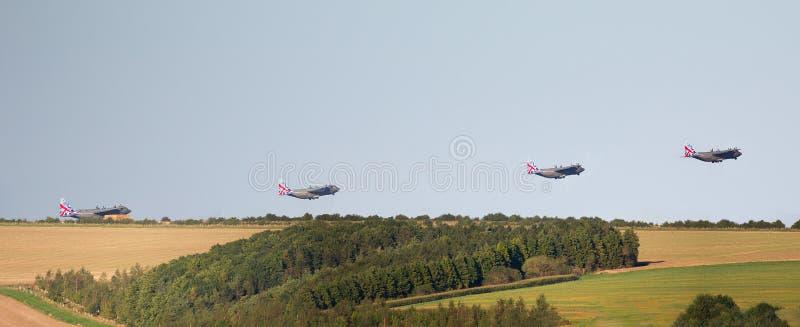 Montering van RAF Hercules Taking Off royalty-vrije stock foto