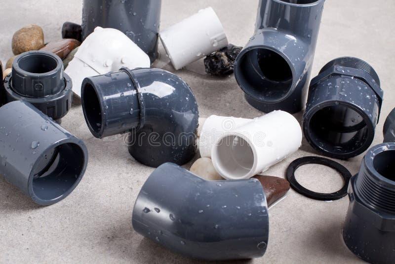Monteringar för system PVC-U royaltyfri foto