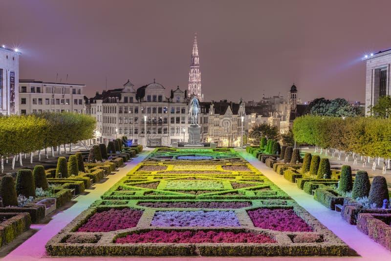 Monteringen av konsterna i Bryssel, Belgien. fotografering för bildbyråer