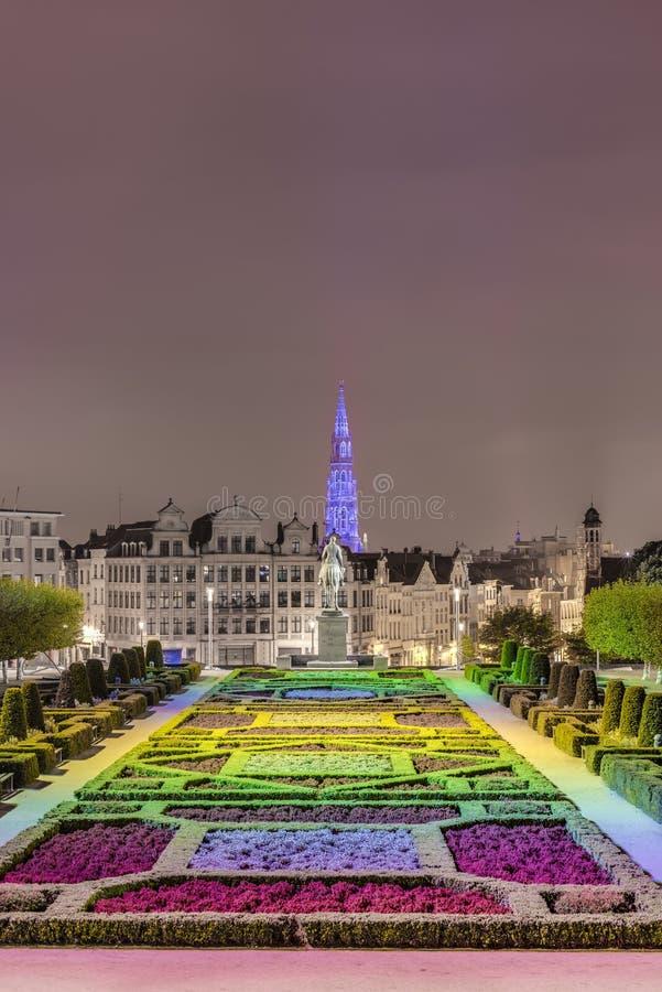 Monteringen av konsterna i Bryssel, Belgien. arkivfoton