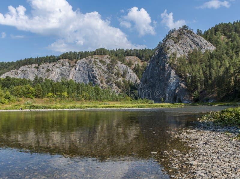 Monteringshöstack i de sydliga Uralsna royaltyfria foton
