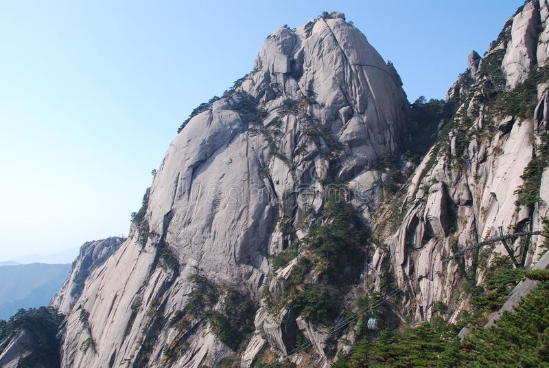 MonteringsHuangshan landskap fotografering för bildbyråer