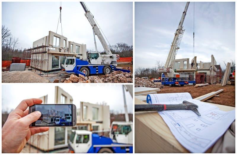 Monteringshusbyggnad fotografering för bildbyråer