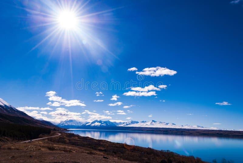 Monteringskocken är det högsta berget i Nya Zeeland fotografering för bildbyråer