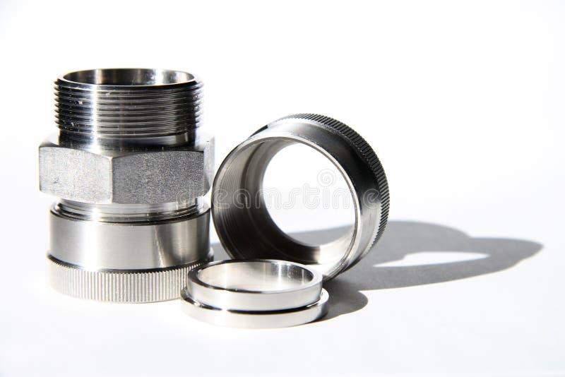 monteringsrostfritt stål arkivbild