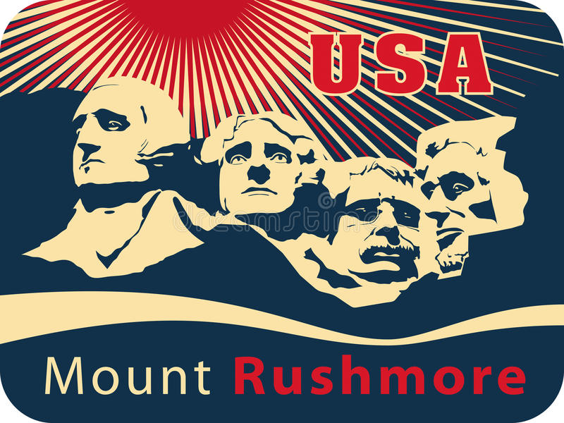 monteringsrushmore royaltyfri illustrationer