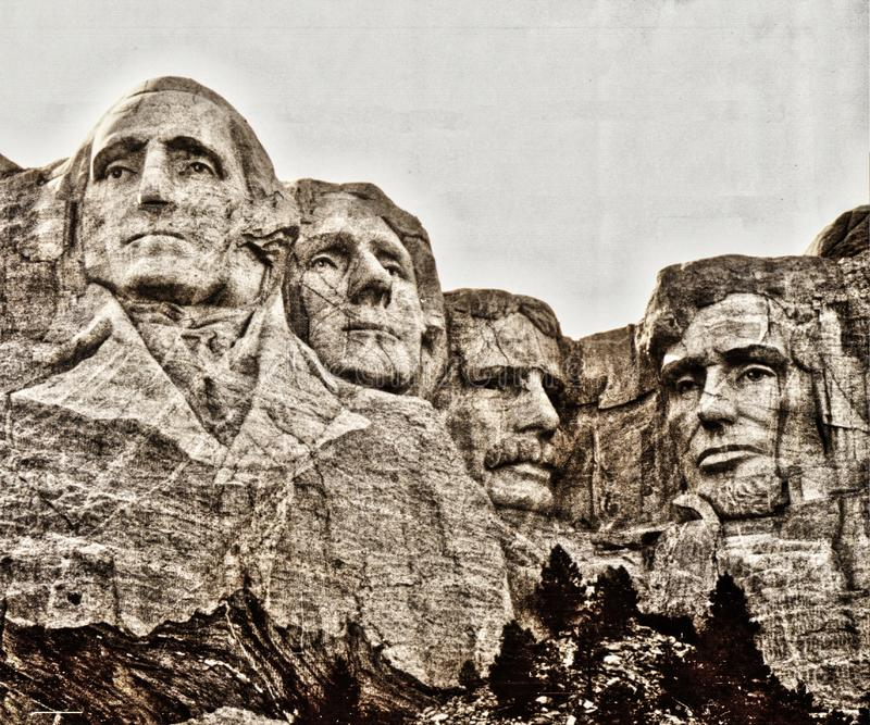 MonteringsRushmore nationell minnesm?rke, South Dakota royaltyfri bild