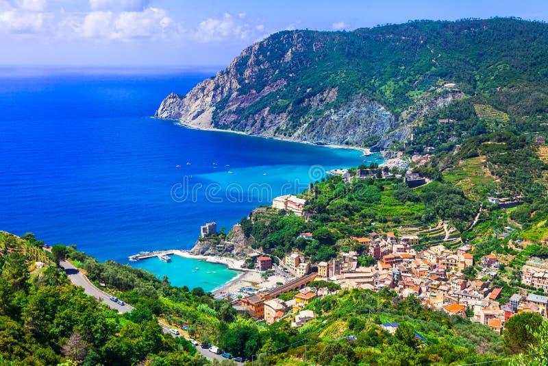 Monterosso Al母马美丽如画的风景  免版税图库摄影
