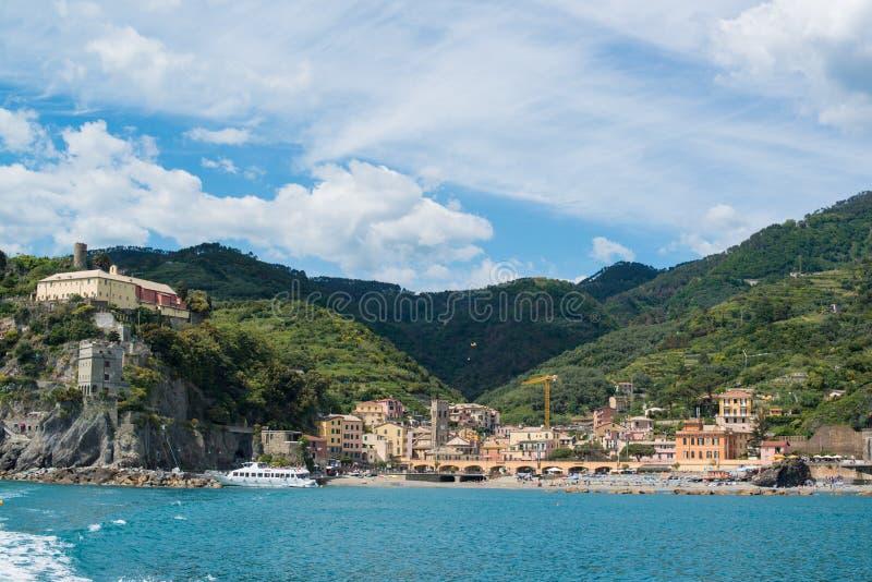 Monterosso em Cinque Terre, Itália imagem de stock