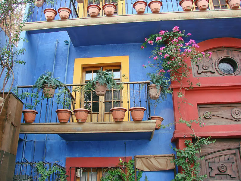 Monterrey-Barrio Antiguo Alte Stadt lizenzfreies stockfoto