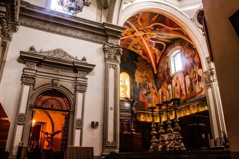 Monterrey city catholic cathedral stock images