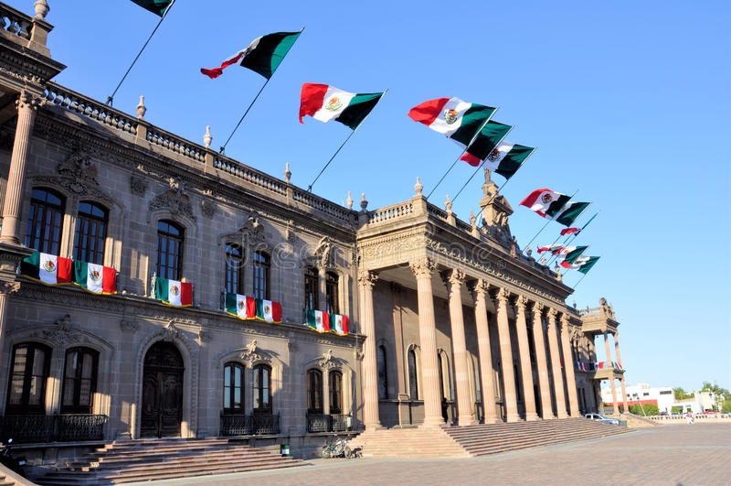Monterrey Goverment Palace royalty free stock photos
