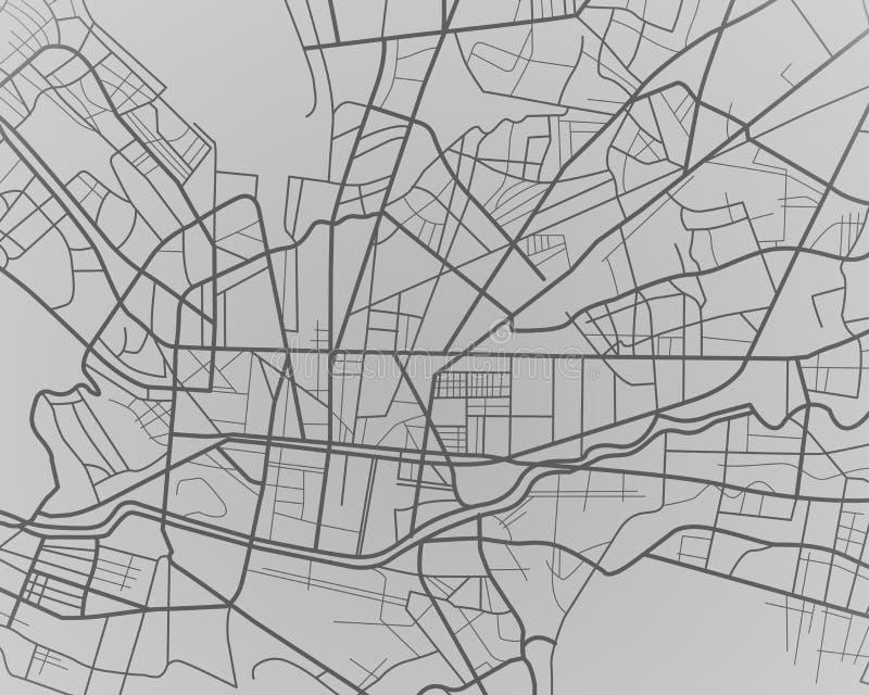 Monterrey Mexico city map digital illustration stock illustration