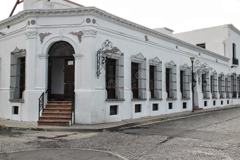 Monterrey, Mexico. A white colonial building at Monterrey, Mexico stock photo