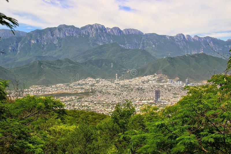 Monterrey, Mexico. The mountains surrounding the city of Monterrey, Mexico royalty free stock photos