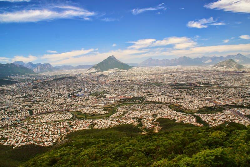 Monterrey, Mexico. The urban sprawl of Monterrey, Mexico royalty free stock photos