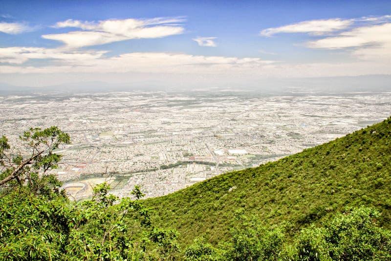 Monterrey, Mexico. The urban sprawl of Monterrey, Mexico stock photography