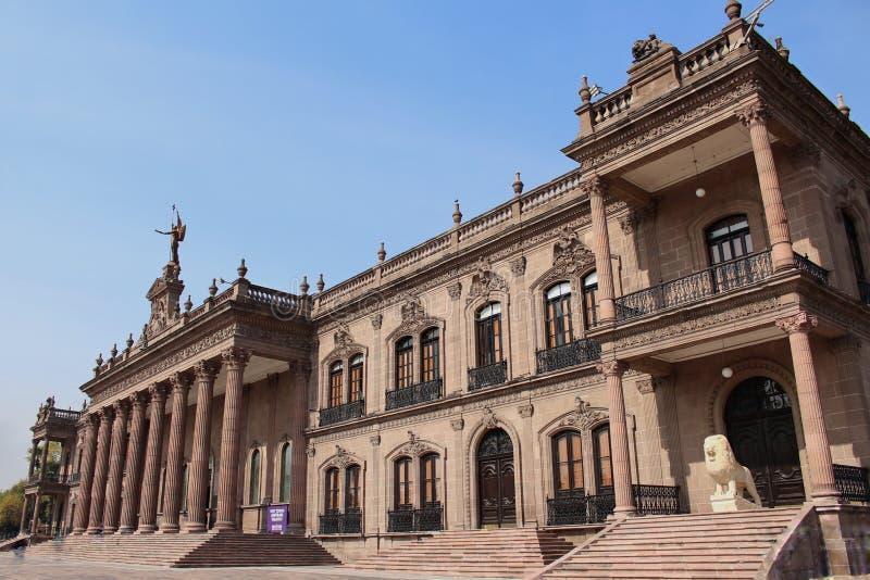 Monterrey Mexikos regeringspalats royaltyfria bilder