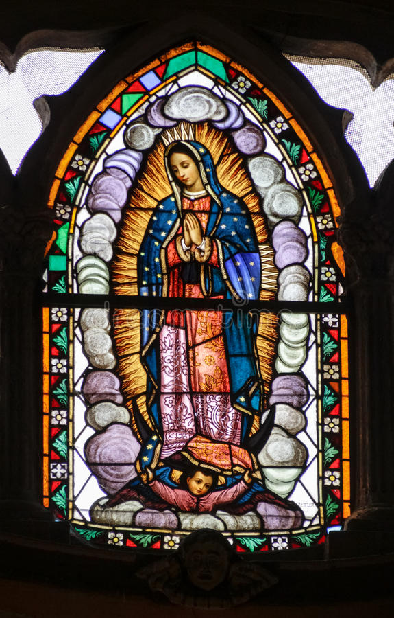 MONTERREY NUEVO LEON/MEICO - 01 02 2017: Basilika de Guadalupe royaltyfria foton
