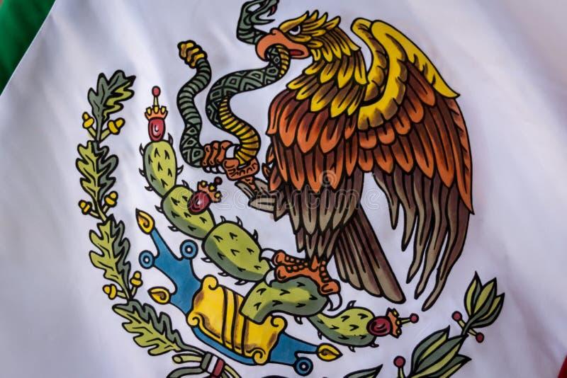 Mexico National Emblem photograph. MONTERREY, NUEVO LEON / MEXICO - 18 11 2017: Mexican National official emblem stock photography